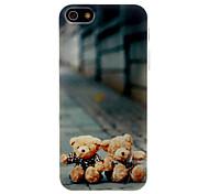 Прекрасный Мишка Pattern Вернуться ТПУ чехол для iPhone 5/5S