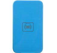 Qi Wireless Charger Blue Pad ricarica con ricevitore oro per Samsung Galaxy Nota 2 N7100