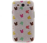Cartoon Bunny Pattern Plastic Protective Hard Back Case Cover for Samsung Galaxy S3 I9300