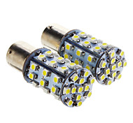 1156 BA15S 0.72W 24x3528SMD 50LM 6000K refrescan la lámpara LED de luz blanca para coche (12V, 2 pcs)