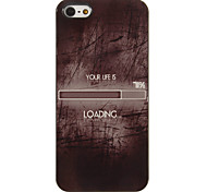 Your Life is 71% Loading Pattern PC Hard Case with 3 Packed HD Screen Protectors for iPhone 5/5S