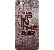 Up in the Air Padrão PC Hard Case com 3 Pacotes de protetores de tela para iPhone HD 5/5S