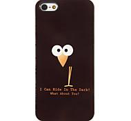 Schwarze Eulen Hiding in the Dark Muster PC Hard Case mit 3 Lunch HD-Display-Schutzfolien für das iPhone 5/5S