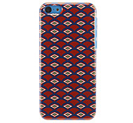 Rhomb-Shaped Fans Pattern Hard Case for iPhone 5C