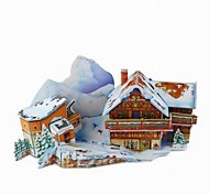 3D Puzzle  Mini Ski Resort Toy  for Kids