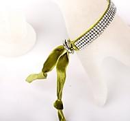 Four Velvet Green Bracelet