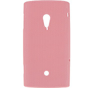 Simple Design Mesh Hard Case for SONY X10(Assorted Colors)