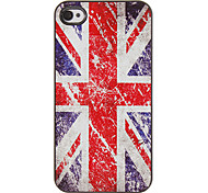 Der Union Jack Muster PC Hard Case mit 3 Lunch HD-Display-Schutzfolien für das iPhone 4/4S