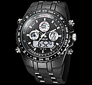 Men's Watch Military Water Resistant Dual Time Zones Analog Digital Watch Calendar LCD Alarm Multi-Function Wrist Watch Cool Watch Unique Watch