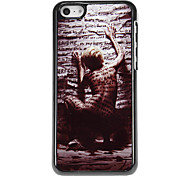 Artistic Behavior of Naked Back with Letters Pattern Aluminous Hard Case for iPhone 5C