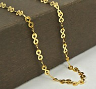 European Fashion Golden Stainless Steel Chain Necklace