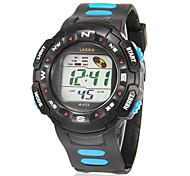 Masculino Relógio Esportivo Relogio digital Digital LCD Calendário Cronógrafo alarme Borracha Banda Azul Vermelho AmareloAmarelo Vermelho
