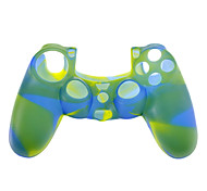 Silicone Skin Case for PS4 Controller (Blue + Yellow + Green)