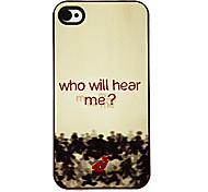 Hombres de Rojo Patrón Hard Case aluminoso para iPhone 4/4S