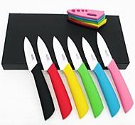 """3 """"faca de cerâmica, Legumes, Fruta com bainha"""
