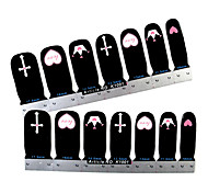 28PCS Full-tip Simple Style Nail Art Stickers Decals