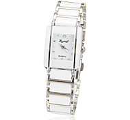 Women's Simple Rectangle Dial Alloy Band Quartz Analog Wrist Watch