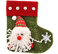 Santa Claus Pattern knitted Sock Christmas Ornament