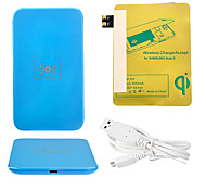 Blue Wireless Power Charger Pad + USB Cable + Receiver Paster(Gold) for Samsung Galaxy S3 I9300