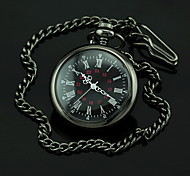 Men's Black Dial Dark Alloy Quartz Pocket Watch