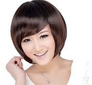 Women Short Straight Hair Side Bang Wigs 3 Colors Available