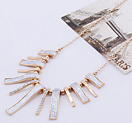 Delicate (Rectangle Pendant) Gold Alloy Torque(Gold,Silver)(1 Pc)