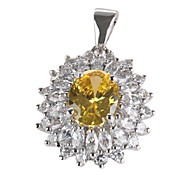 Fashion 925 Silver Plated Copper Zircon Pendants
