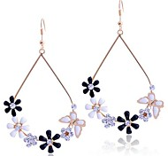 flores lureme®enamel y mariposa pendientes