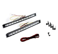 2Pcs 12LED Super Bright White DRL Car Daytime Running Light