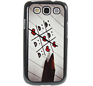 Pencil Love Pattern Aluminum&Plastic Hard Back Case Cover for Samsung Galaxy S3 I9300
