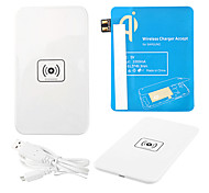 White Power Wireless Pad Cargador + Cable USB + receptor Paster (azul) para Samsung Galaxy Nota 2 N7100