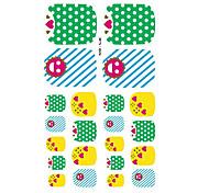 22PCS Lovely Spots Cartoon Nail Art Sticker XJ Sery No.2