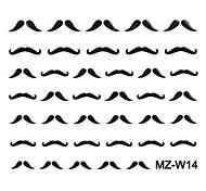 2PCS Beard Stickers Nail Art modello misto No.14-16
