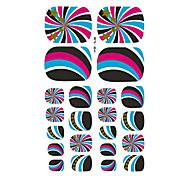 22PCS Colorful Whirlwind Cartoon Nail Art Sticker XJ Sery No.1