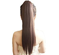 Tape Horsetail Ponytail Straight Synthetic Hairpiece Heat Resistant Hair Extension