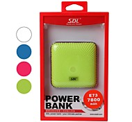 SDL 7800mAh Portable Power Bank External Battery with Apple 8 Pin Cable for Mobile Devices (Assorted Colors)