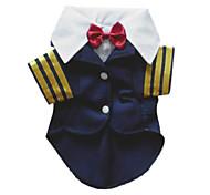 Fashion Cotton Navy Anzug für Pet Dogs (verschiedene Größe)