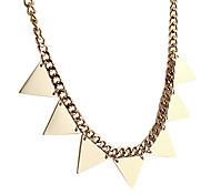 Golden Triangle Choker Necklace