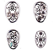 1PCS Zircon Diamond Studded Nail Art Alloy Decorations Riches And Honour No.99-102