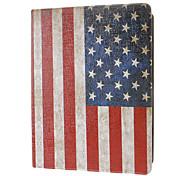 Retro Style Amerika-Flaggen-Muster Ganzkörper-Case mit Ständer für iPad 2/3/4