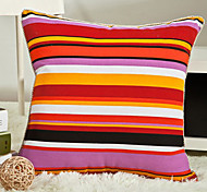 Stylish Vivid Colorful Stripe Pillow With Insert