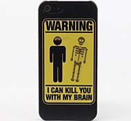 Warning Protective Hard Back Case for iPhone 5/5S