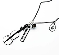 Violin Music Pendant Necklace
