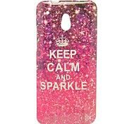 Keep Calm And Sparkle Letters Pattern Flexible TPU Back Cover Case For HTC One Mini M4