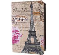 Eiffel und rosa Rosenmuster Fall w / Stand für iPad mini 3, iPad mini 2, iPad mini