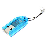 USB 2.0 Memory Card Reader (Blue/Red)