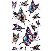 5 Stück Schmetterling wasserdicht Temporary Tattoo (10,5 cm * 20,5 cm) HM411