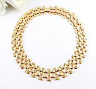 European Gold Gold Plated Chain Necklaces For Women(1 Pc)