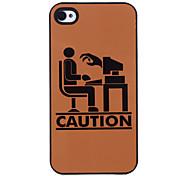 Sea cauteloso de Patrón Computer Hard Case aluminoso para el iPhone 4/4S