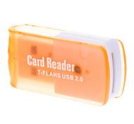 2.0 Micro SD Memory Card Reader T-Flash USB (laranja)